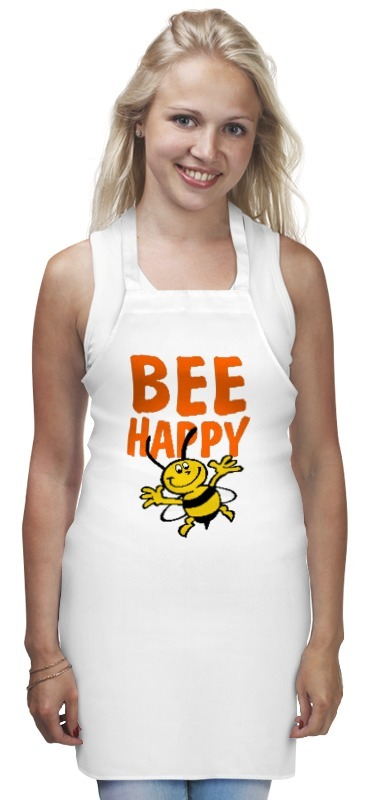 Фартук Printio Bee happy кеды happy bee happy bee ha014aggts17