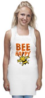 """Фартук """"Bee happy"""" - bee happy, будь счастлив"""