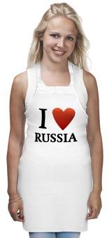 """Фартук """"I love Russia"""" - i love, россия, russia, я люблю россию, i love russia"""