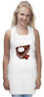 """Фартук """"Торт Черный лес"""" - диета, девушке, вишня, сладкое, шоколад, повар, десерт, торт, крем, сливки"""