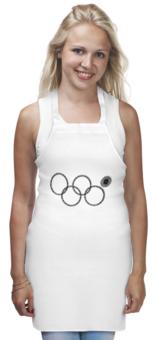 """Фартук """"Нераскрывшееся кольцо (снежинка)"""" - олимпиада, сочи 2014, нераскрывшееся кольцо, нераскрывшаяся снежинка, олимпийская эмблема"""