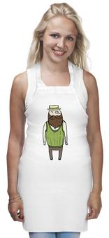 "Фартук ""Джентльмен с моноклем"" - шляпа, борода, усы, джентльмен, монокль"