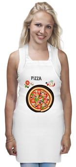 "Фартук ""Итальянская пицца"" - италия, еда, рисунок, пицца, кухня"
