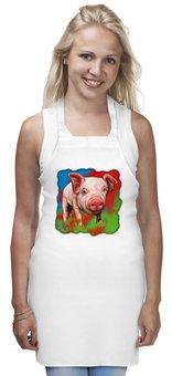 """Фартук """"Симпатичный поросёнок"""" - свинка, свинья, хрюшка, поросёнок, хряк"""