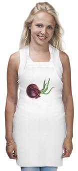 "Фартук ""Яркий красный лук с зеленью"" - красный, зелень, лук, овощи, луковица"