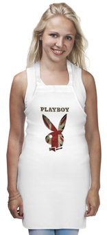 """Фартук """"Playboy Британский флаг"""" - playboy, плейбой, зайчик, великобритания, плэйбой"""