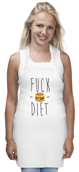 """Фартук """"No Diet """" - арт, смешно, еда, диета, burger"""