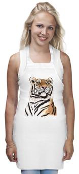 """Фартук """"Взгляд тигра"""" - хищник, животные, взгляд, тигр, зверь"""
