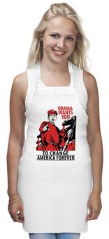 "Фартук ""Obama Red Army"" - америка, россия, russia, обама, obama"