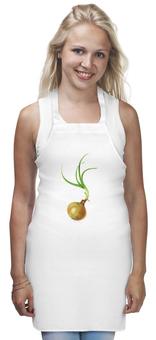 "Фартук ""Лук с зеленью"" - зелень, лук, овощи, луковица"