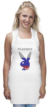 """Фартук """"Playboy Россия"""" - playboy, россия, плейбой, зайчик, плэйбой"""