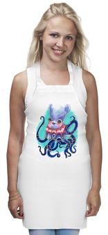 """Фартук """"модная осьминожка"""" - животные, octopus, осьминог, осьминожка"""