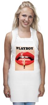 """Фартук """"Playboy Губы"""" - девушка, playboy, губы, плейбой, плэйбой"""