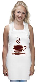 """Фартук """"Шоколадно-Кофейный"""" - арт, чашка, рисунок, кофе, шоколад"""