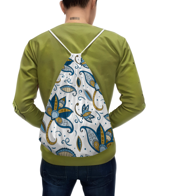 Рюкзак с полной запечаткой Printio Цветочный рюкзак с полной запечаткой printio мишутка