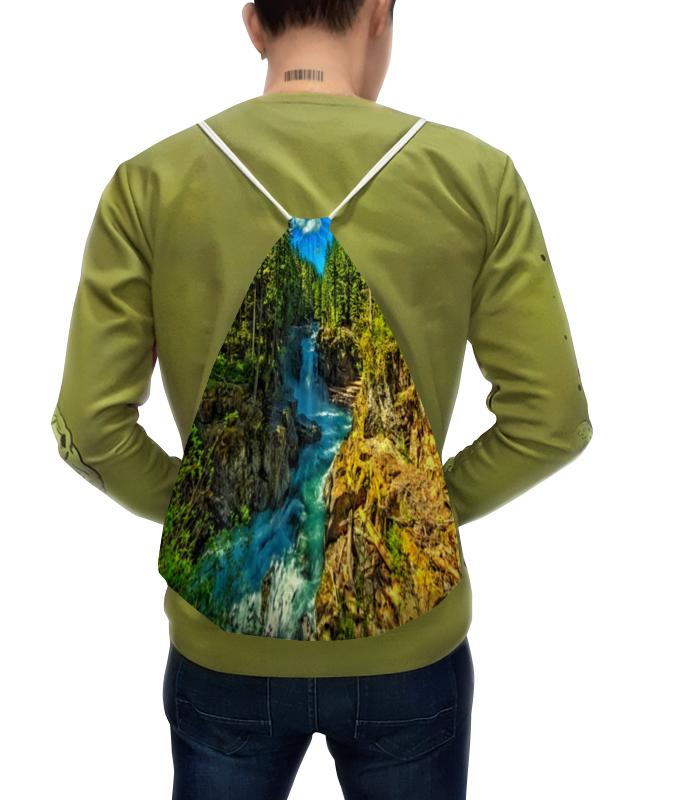 Рюкзак с полной запечаткой Printio Лесной пейзаж китайский стиль водопад лесной пейзаж фотография mural обои гостиная гостиничный ресторан вход вход фон декор фреска