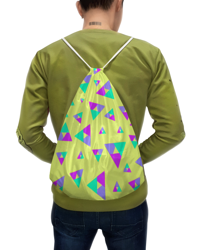 Рюкзак с полной запечаткой Printio Треугольник 1 прорезыватели macik забавка треугольник с колечками