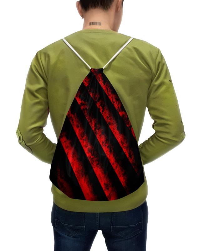 Рюкзак с полной запечаткой Printio Черно-красные полосы bebendorff ботинки зимние карл черно красные