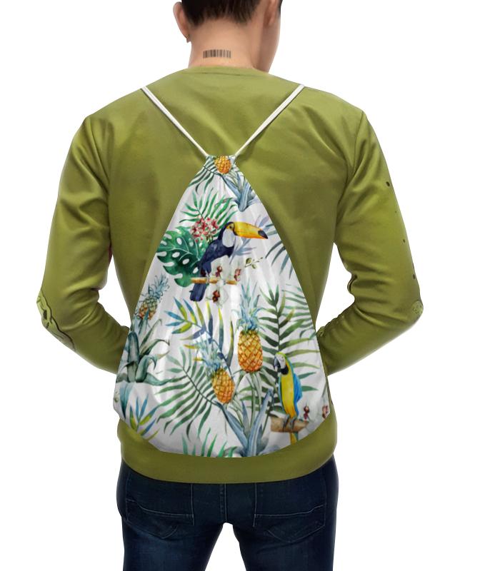 Рюкзак с полной запечаткой Printio Тропические птицы