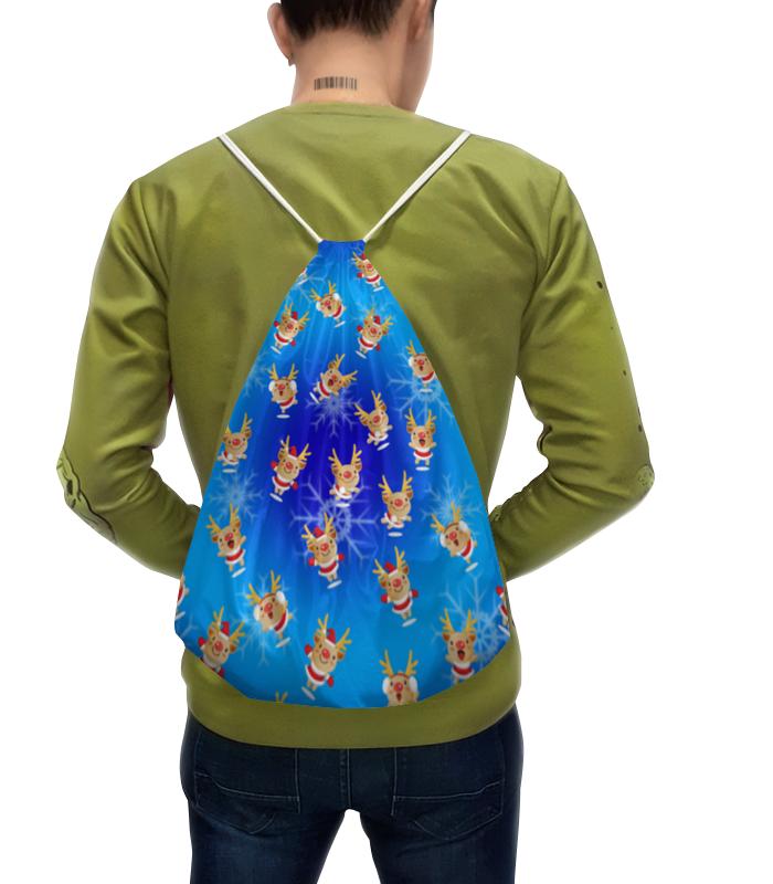 Рюкзак с полной запечаткой Printio Рождественские олени рюкзак с полной запечаткой printio дама в голубом картина сомова