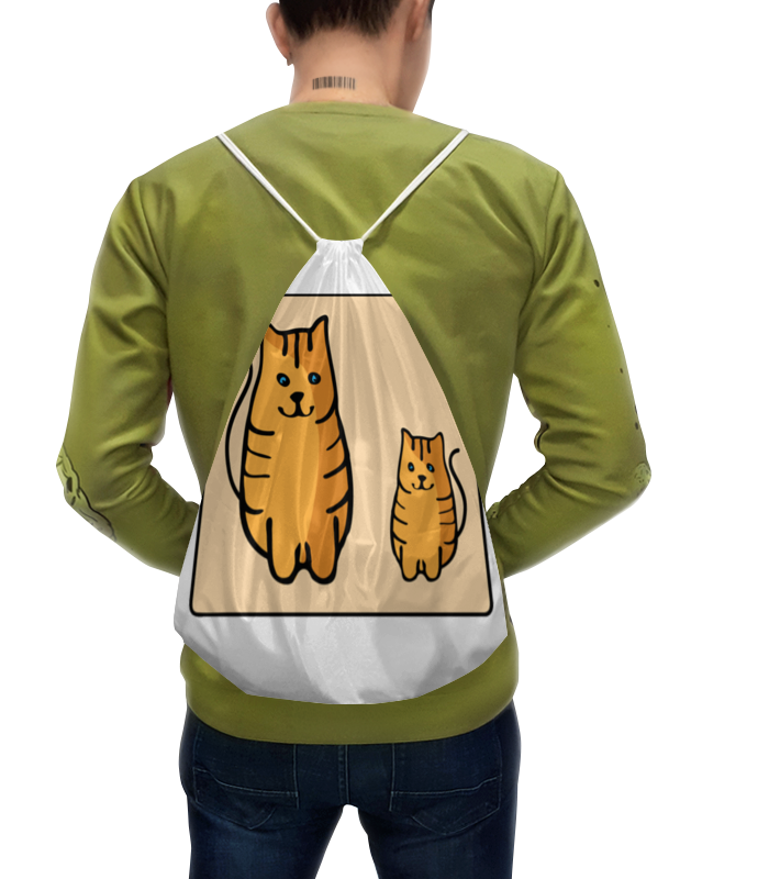 Рюкзак с полной запечаткой Printio Два котика, смотрящие друг на друга неизвестный друг