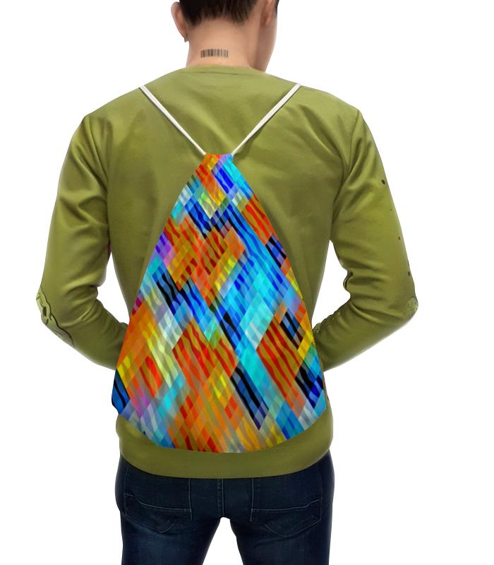 Рюкзак с полной запечаткой Printio Волнистый узор футболка с полной запечаткой для девочек printio волнистый узор