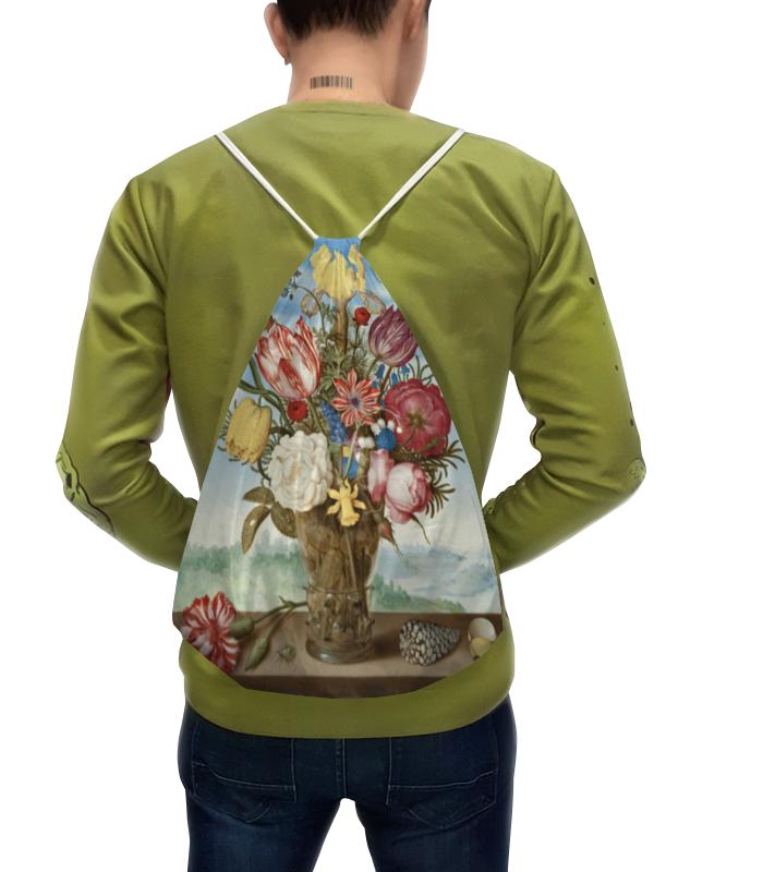 Рюкзак с полной запечаткой Printio Букет цветов на полке (амброзиус босхарт) рюкзак с полной запечаткой printio акварельный букет