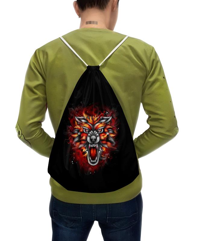 Рюкзак с полной запечаткой Printio Wolf & fire рюкзак anna wolf anna wolf mp002xw13xee