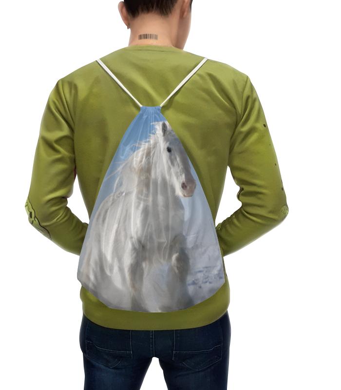 Рюкзак-мешок с полной запечаткой Printio Лошадь рюкзак с полной запечаткой printio девушка и лошадь