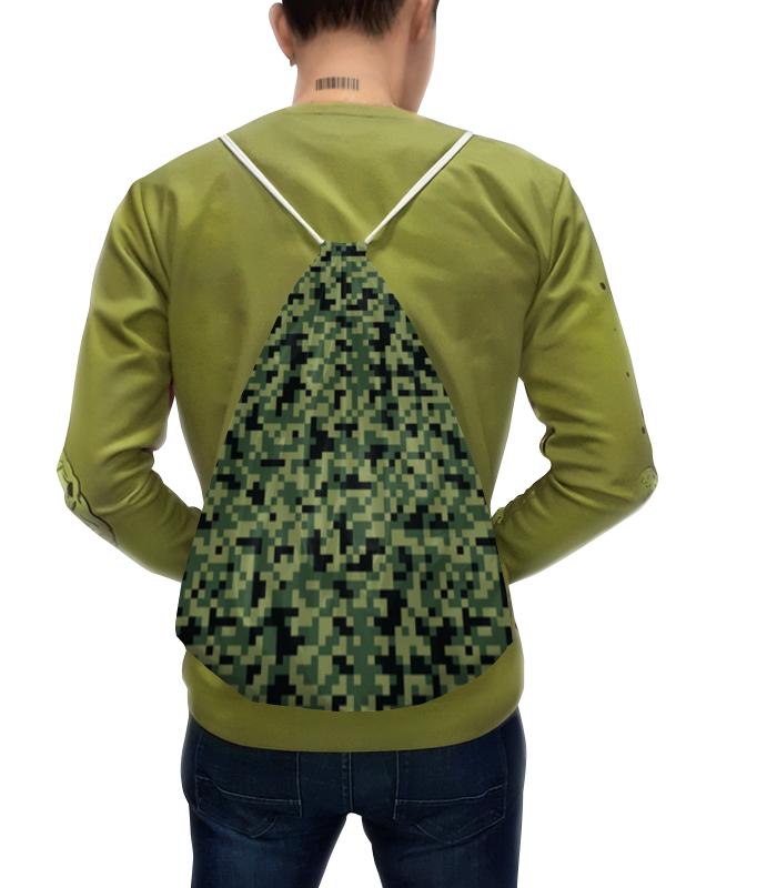 Рюкзак с полной запечаткой Printio Камуфляж пиксели (зеленый) рюкзак с полной запечаткой printio мишутка