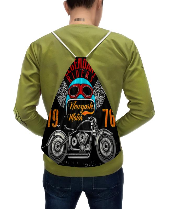 Рюкзак-мешок с полной запечаткой Printio Legendary riders подушка 60х40 с полной запечаткой printio legendary riders