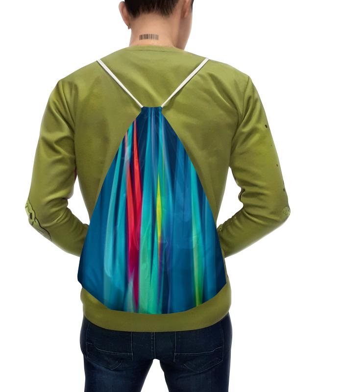 Рюкзак-мешок с полной запечаткой Printio Синие линии цена