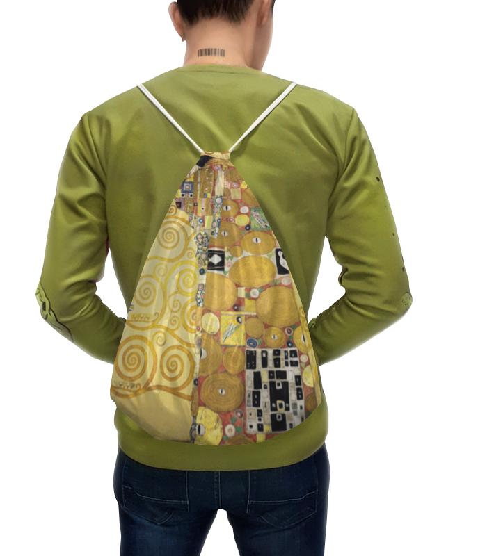 Рюкзак с полной запечаткой Printio Объятия (густав климт) тетрадь на скрепке printio полисадник с подсолнухами густав климт