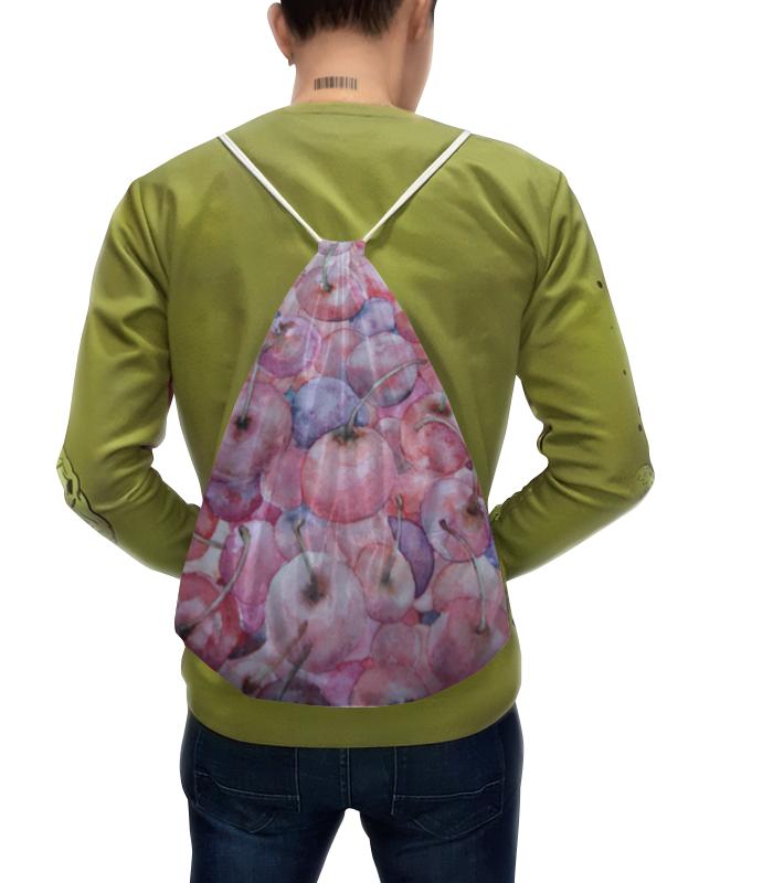Рюкзак с полной запечаткой Printio Вишня россыпью danone йогурт питьевой черника ежевика 2 1% 270 г