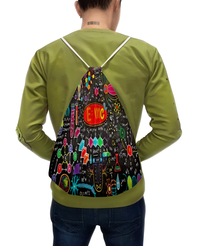 Рюкзак-мешок с полной запечаткой Printio Химия рюкзак мешок с полной запечаткой printio девушка