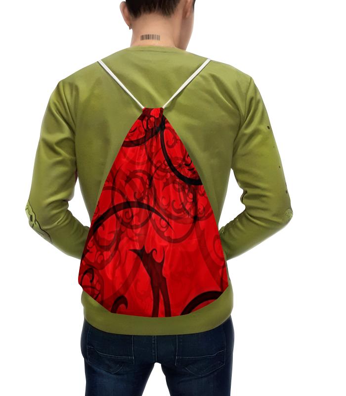 Рюкзак с полной запечаткой Printio Черно-красный узор