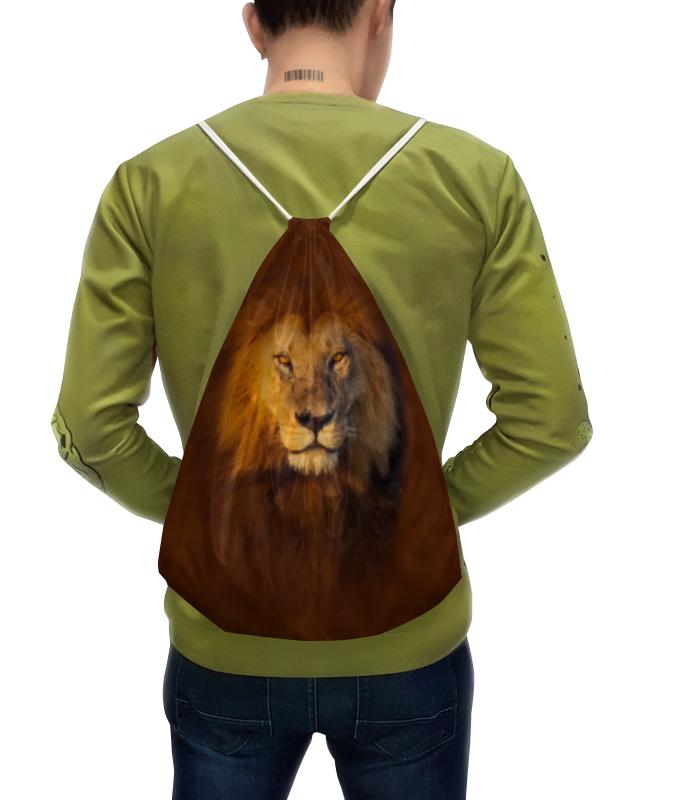 Рюкзак-мешок с полной запечаткой Printio Лев рюкзак мешок с полной запечаткой printio лев