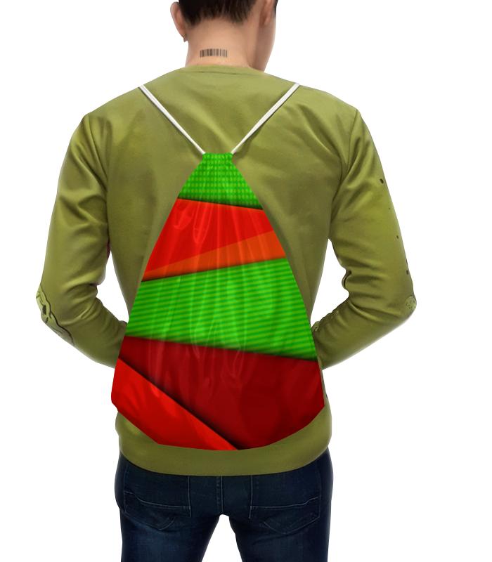 Рюкзак-мешок с полной запечаткой Printio Цветные полосы юбка карандаш printio цветные полосы