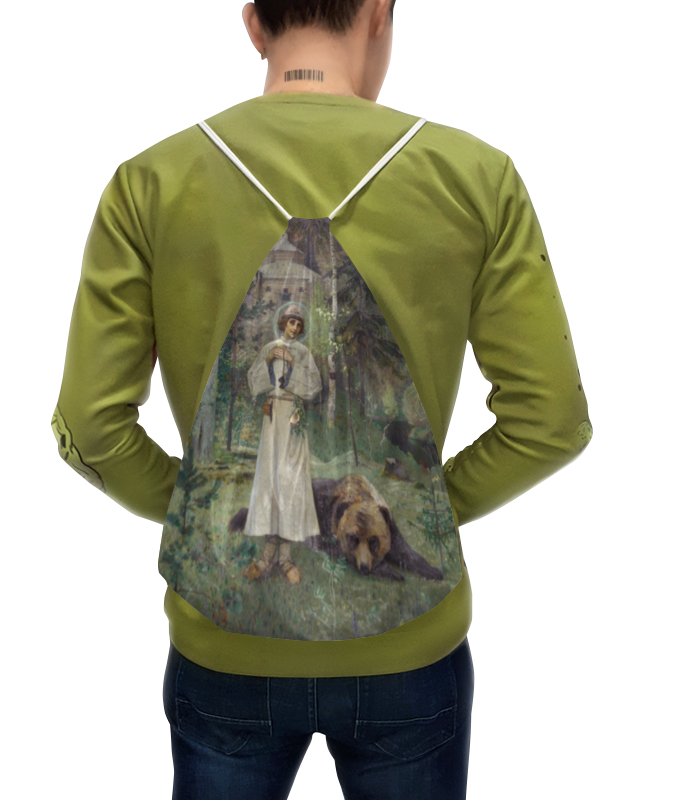 Рюкзак-мешок с полной запечаткой Printio Юность преподобного сергия (михаил нестеров)