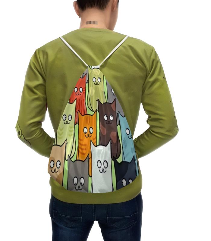 """Рюкзак-мешок с полной запечаткой Printio Котята рюкзак с полной запечаткой printio рюкзак watercolor"""""""