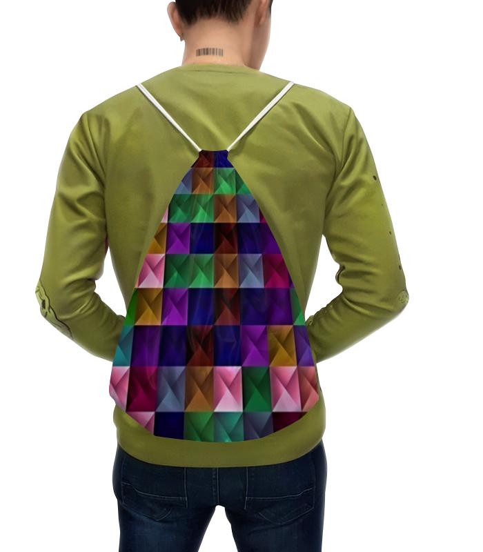 Рюкзак-мешок с полной запечаткой Printio Текстура квадратов михаил квадратов тени брошенных вещей