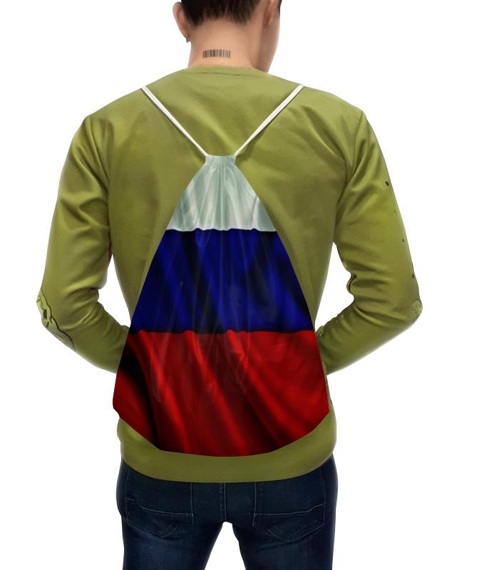 Рюкзак с полной запечаткой Printio Флаг рф флаг пограничных войск россии великий новгород