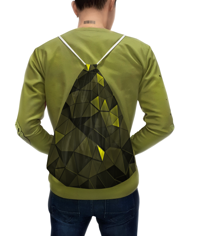 Рюкзак с полной запечаткой Printio Зеленые стекла зеленые цепочки
