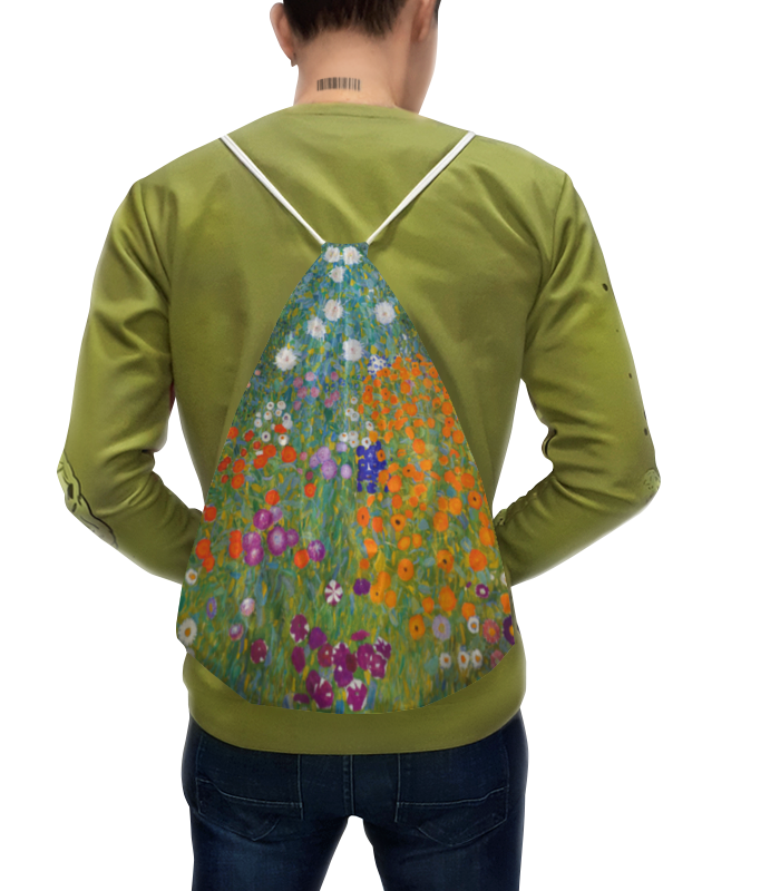 Рюкзак с полной запечаткой Printio Цветочный сад (густав климт) рюкзак с полной запечаткой printio открытая дверь в сад константин сомов