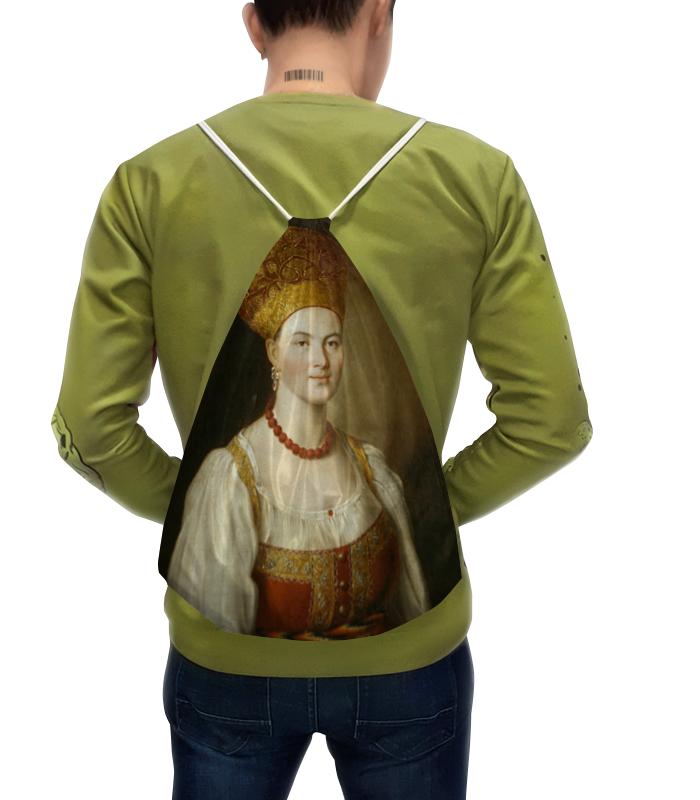 Рюкзак с полной запечаткой Printio Портрет неизвестной в русском костюме (аргунов) цена