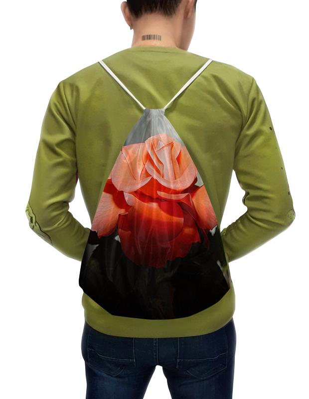 Рюкзак-мешок с полной запечаткой Printio Алая роза. футболка с полной запечаткой для девочек printio алая роза