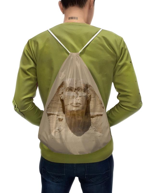 цена Рюкзак с полной запечаткой Printio Портрет головы сфинкса.