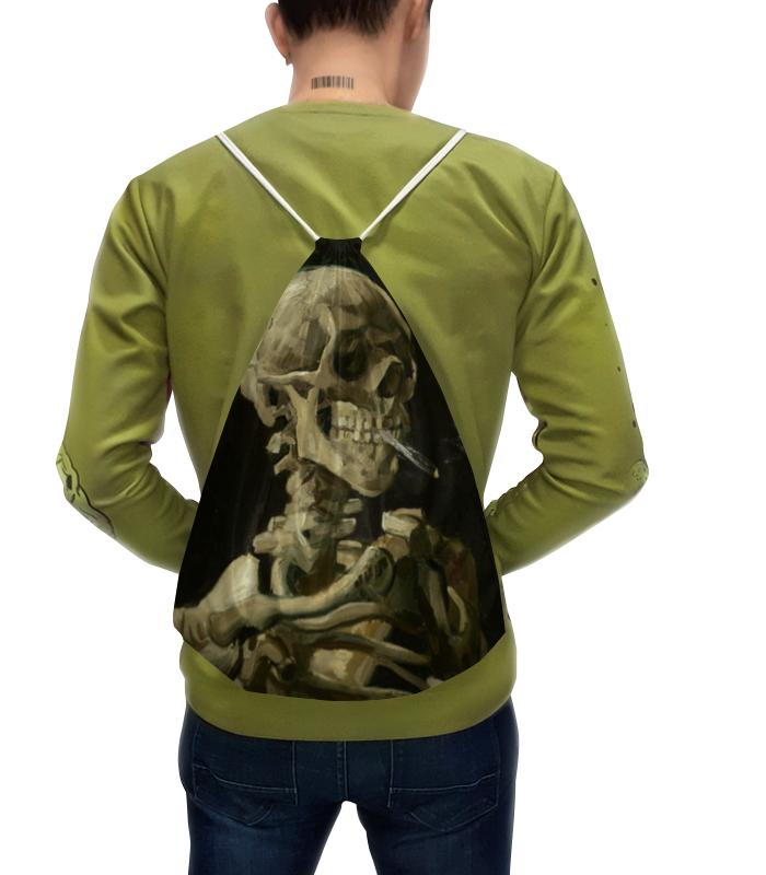 Рюкзак-мешок с полной запечаткой Printio Череп с горящей сигаретой (винсент ван гог)