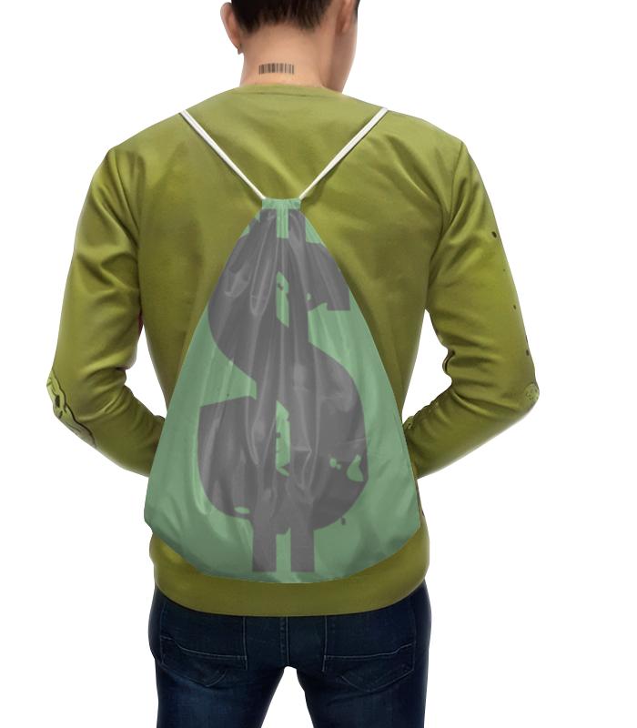 Рюкзак-мешок с полной запечаткой Printio Мешок с деньгами (баксами и биткоинами)