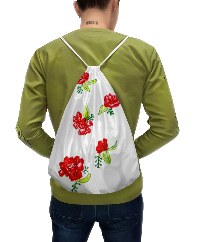 Рюкзак с полной запечаткой Printio Рюкзак красные цветы цена